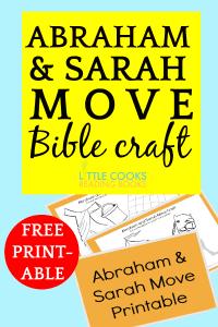 Abraham and Sarah Move Bible Craft for Kids