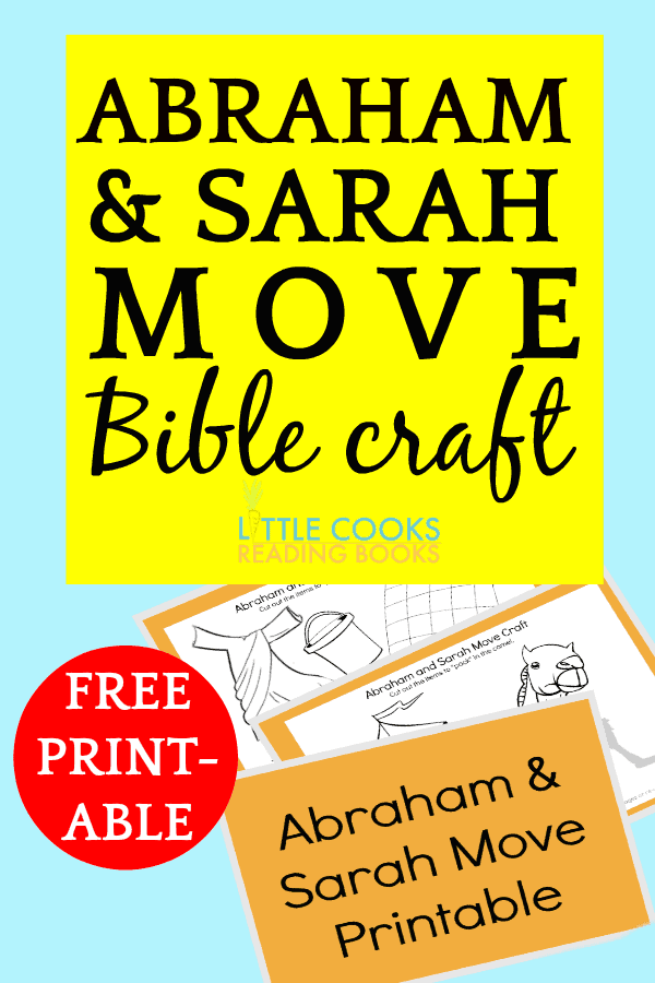 Abraham and Sarah Move Bible Craft for Kids