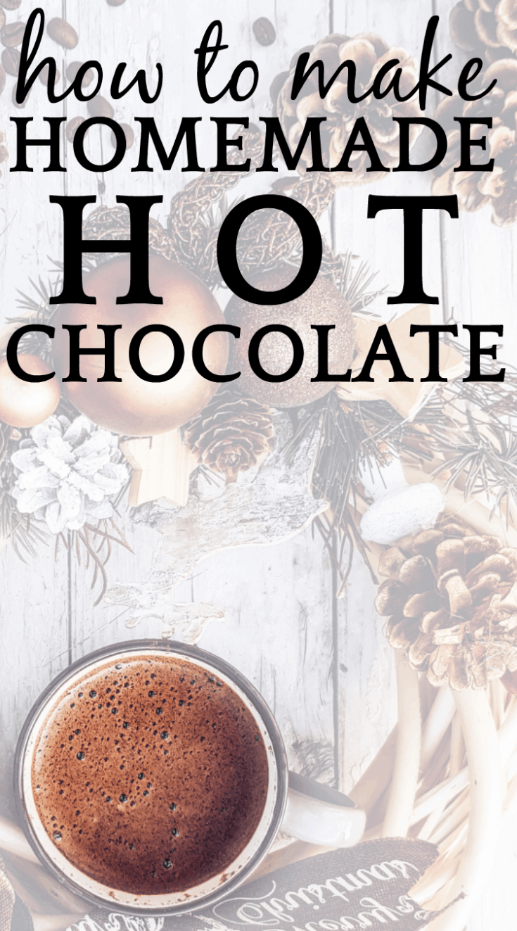 Homemade Hot Chocolate with Mix-Ins, Toppings, and Hot Cocoa Bar #hotchocolate #hotchocolatebar #hotchocolaterecipes #hotcocoa