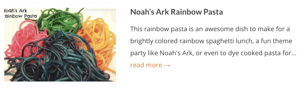 ALSO TRY: Noah's Ark Rainbow Pasta