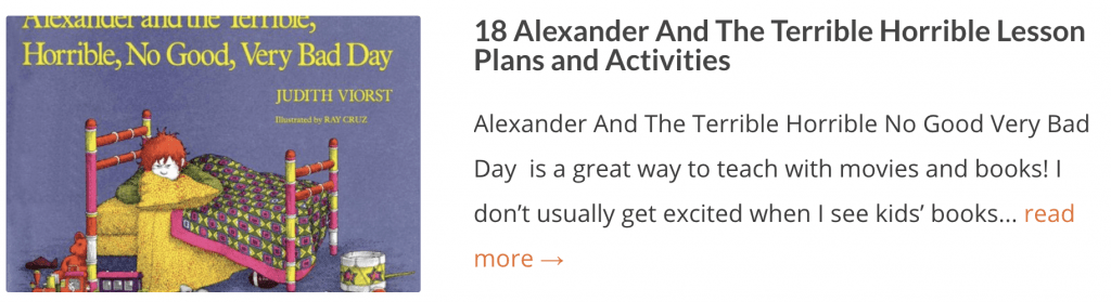 18 Alexander And The Terrible Horrible Lesson Plans and Activities