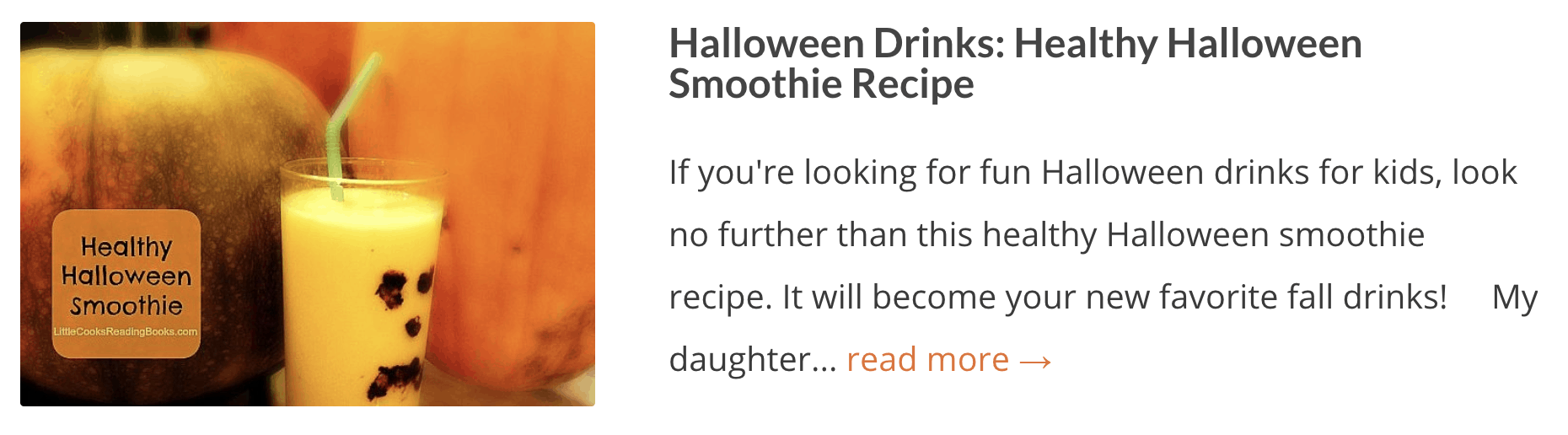 Halloween Drinks: Healthy Halloween Smoothie Recipe