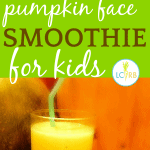 Kids' Halloween Drinks: Pumpkin Face Halloween Smoothie Recipe