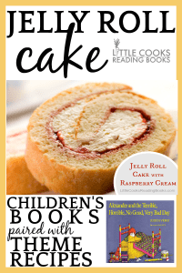 Jelly Roll Cake Paired With Alexander Terrible Horrible Day Children's Book