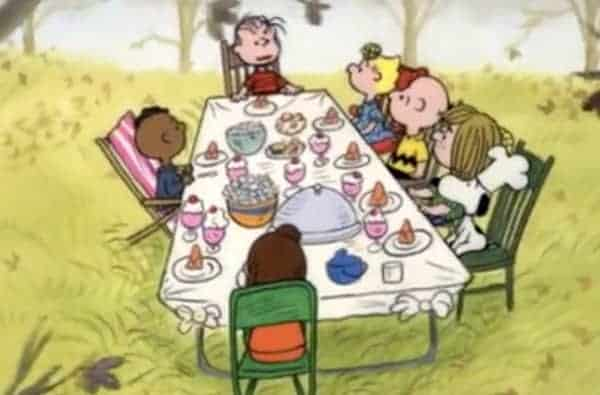 Charlie Brown Thanksgiving dinner picture