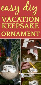 Easy DIY Christmas Gift Ornament Keepsake from Vacations, Travel, Nature Hikes