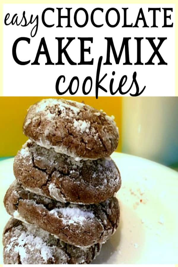 How to Make the Best Super Easy Chocolate Cake Mix Cookies Recipes #cookies #baking #desserts #cakes