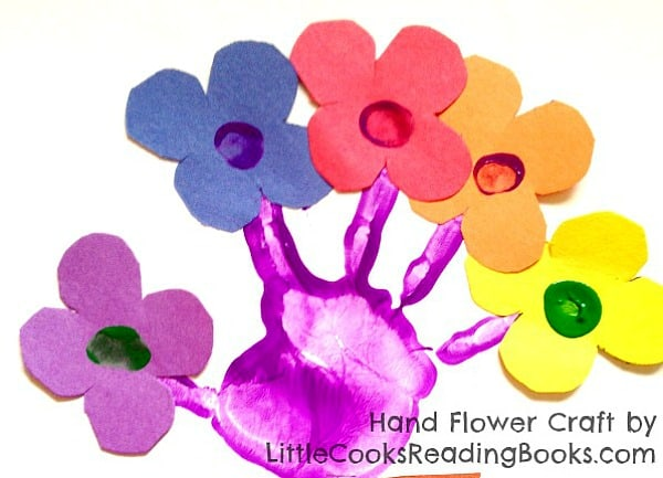 Handprint Flowers Craft and Poem