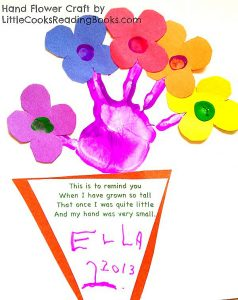 How to Make Handprint Flowers Craft
