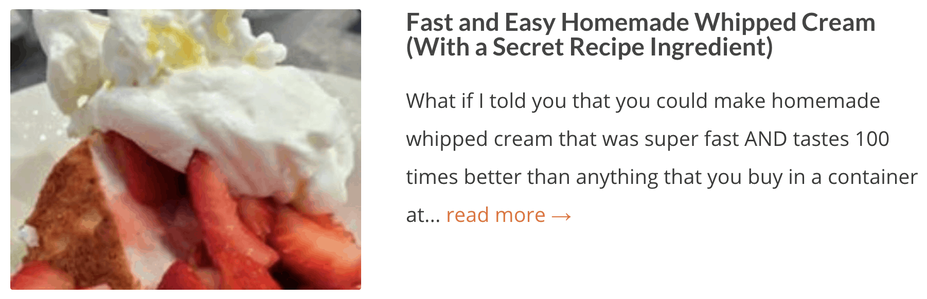 Easy Homemade Whipped Cream