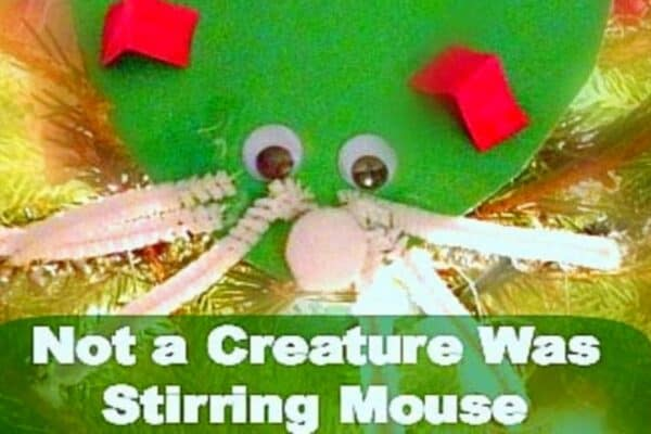 Preschool Christmas Tree Decoration Craft Night Before Christmas Mouse Crafts