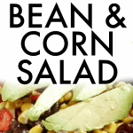 Black Bean and Corn Salad closeup on a plate