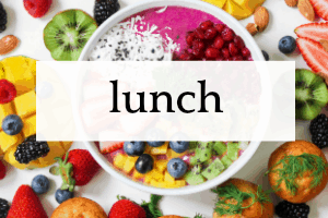 Lunch For Kids bright bowl of different fruits and vegetables