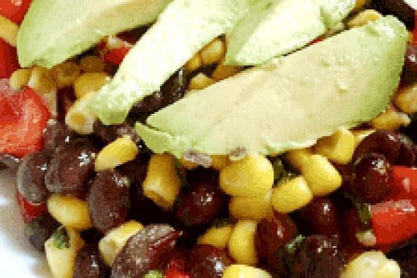 Easy Black Bean and Corn Salad with Avocado