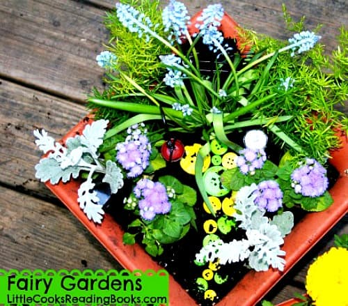 DIY Container Fairy Garden for Kids of All Ages fairy garden from above