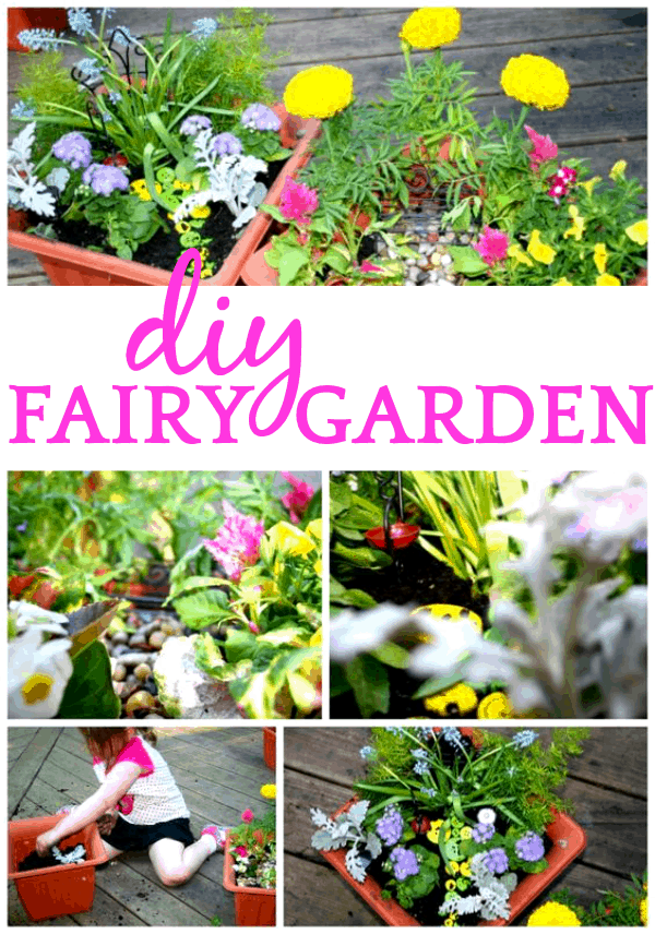 DIY Container Fairy Garden for Kids of All Ages #fairy #fairygardening #fairygarden #crafts #fairylights #fairies #garden #gardenideas #crafts #crafting #craftsforkids #craftideasforkids #craftideas #craftingwithkids