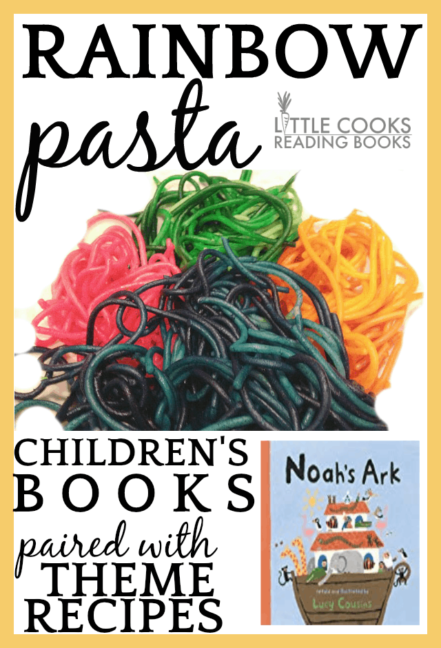 Noahs Ark Rainbow Pasta #pasta #pastarecipes #cooking #recipes #recipeideas #cookingwithkids #kidsrecipes #sensoryplay #sensoryactivities #noah #childrensbooks