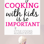 Why Cooking With Kids Is So Important hand holding a whisk with white cream on it
