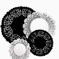 Black Paper Doilies