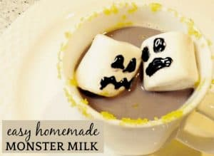 Easy Homemade Chocolate Milk (Monster Milk Halloween Drinks)
