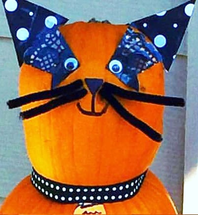 No-Carve Pumpkin Cat Family Craft