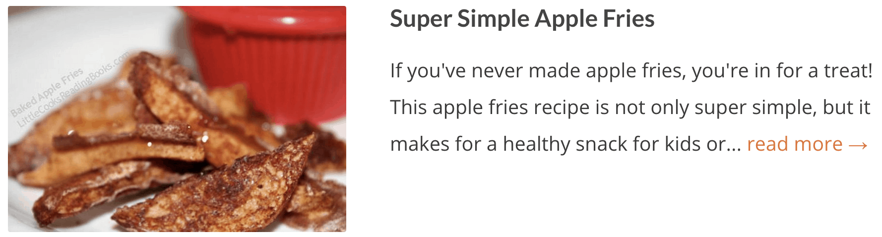 Super Simple Apple Fries Recipe