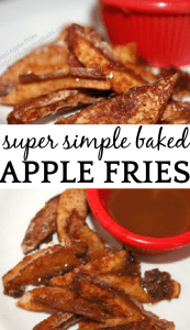 Super Simple Baked Apple Fries