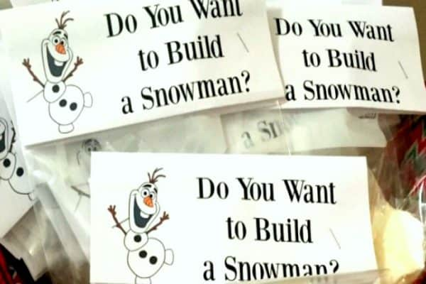Do You Wanna Build A Snowman Goodie Bags
