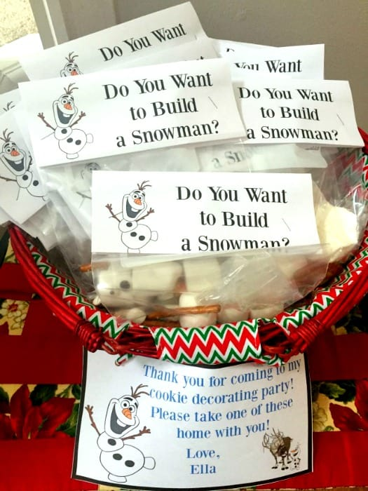 Do You Want To Build A Snowman Treat Bags