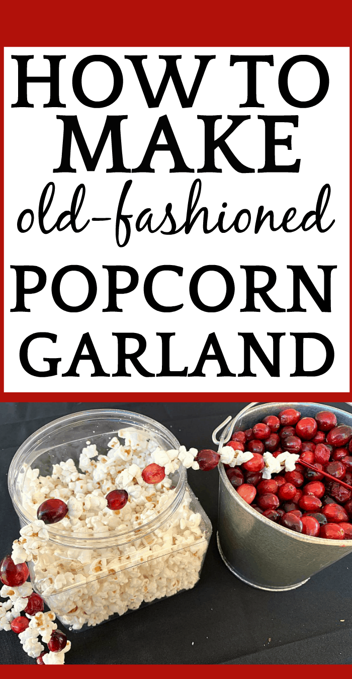 How To Make Popcorn Garland With Cranberries for a Fun Christmas Craft