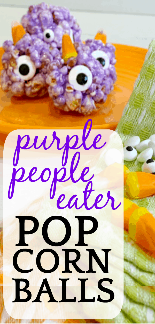 Purple People Eater Popcorn Balls Recipe