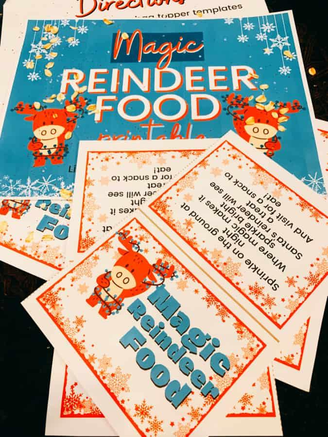Santa Reindeer Food Poem Free Printable