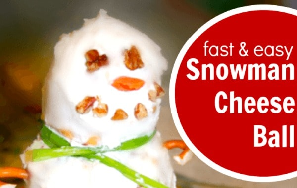 Easy Snowman Cheese Ball