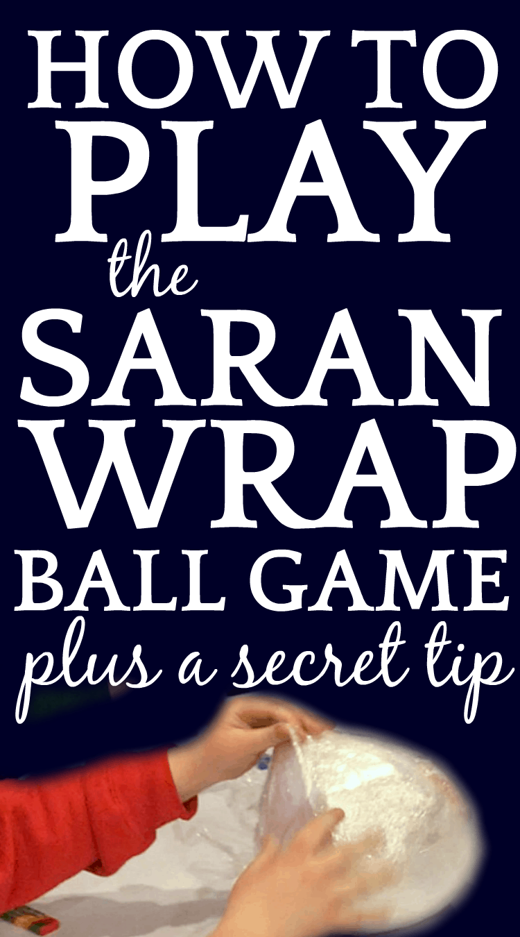 How to Play Saran Wrap Ball Game (Plus A Secret Tip) over hands playing plastic wrap game