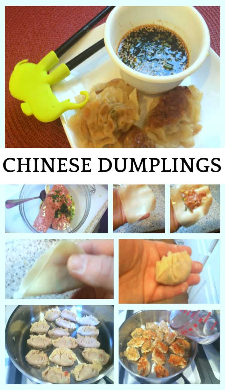 step-by-step pictorial of how to make chinese dumplings or potstickers