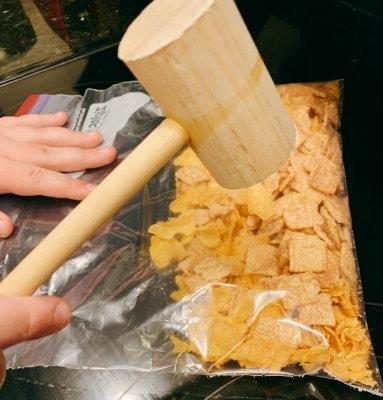 fried ice cream crushed corn flakes