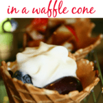 FRUIT SALAD IN A waffle cone