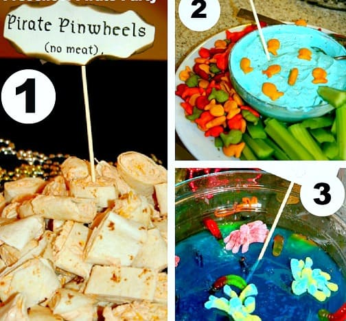 pirate party food three different dishes