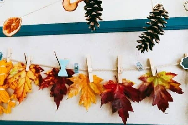 How To Preserve Fall Leaves wax leaf garland hanging