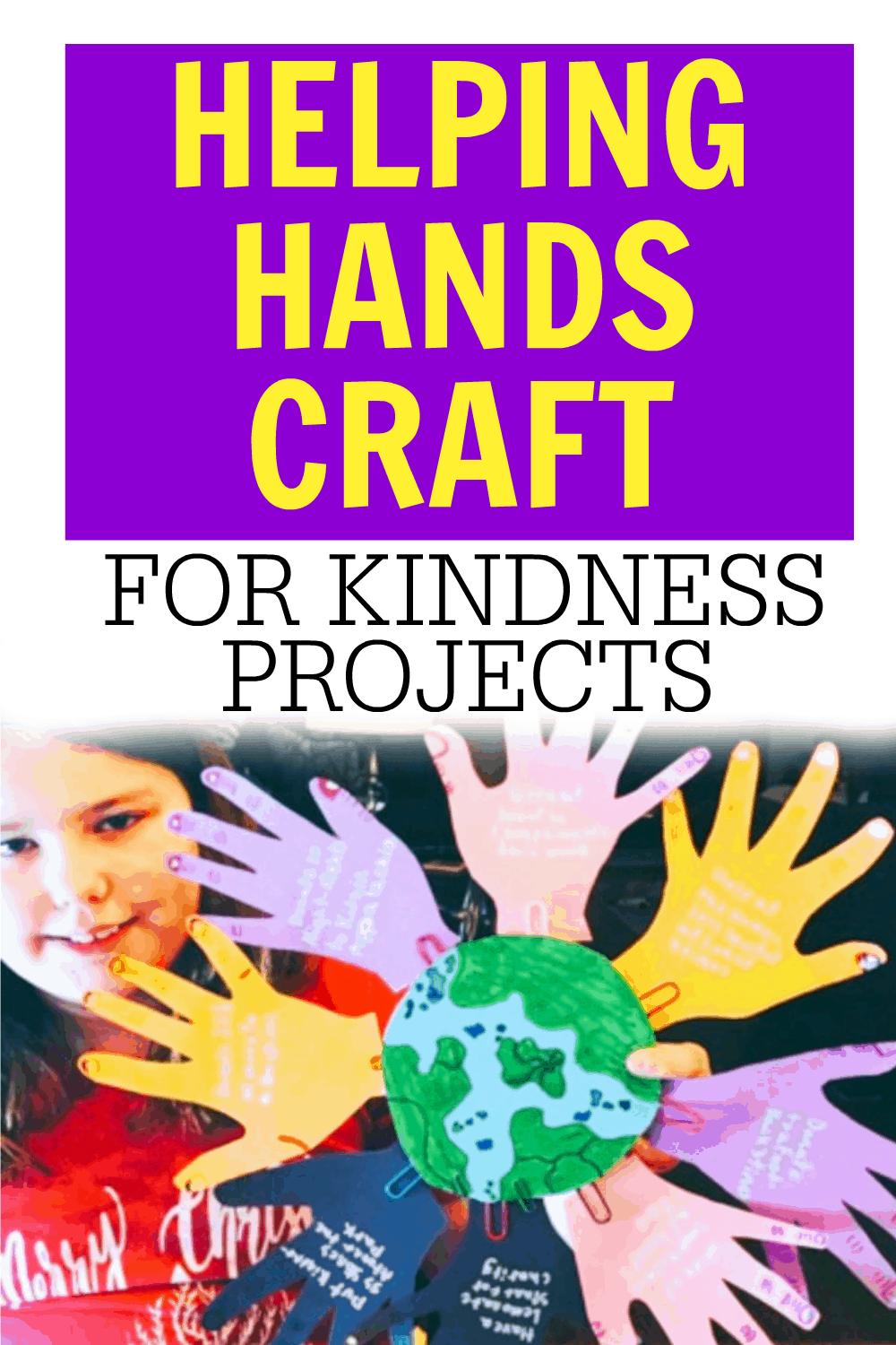 HANDS CRAFT FOR KIDS PIN