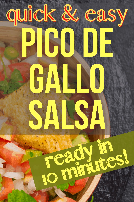 pico de gallo recipe with tortilla chip in a bowl