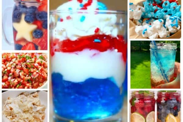 Red White and Blue Food for Memorial Day Party