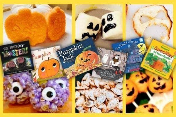 Best Preschool Halloween Books with Halloween food crafts