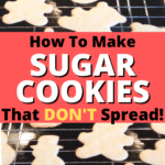 Vanilla Cutout Cookies That Don't Spread (Best Sugar Cookie Recipe!) cut out sugar cookies on rack
