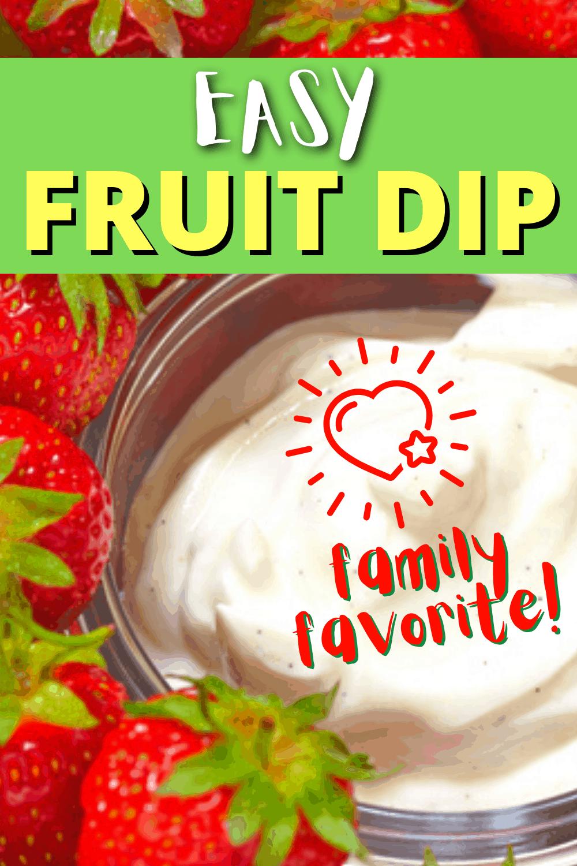 Easy Fruit Dip with Cream Cheese Recipe
