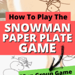 PAPER PLATE SNOWMAN DRAWING GAME