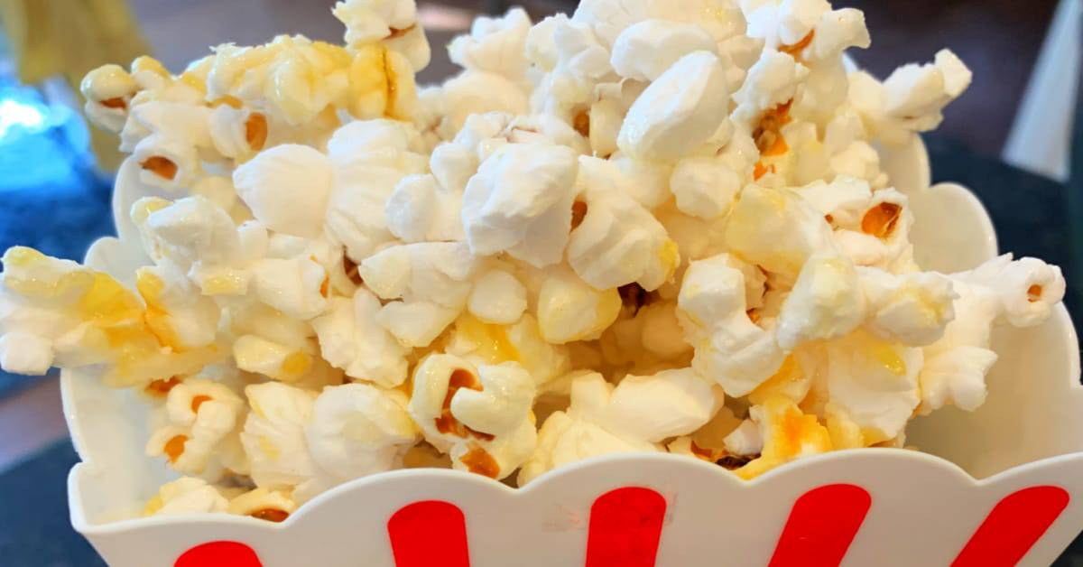 State Fair Kettle Corn Recipe in carnival popcorn holder