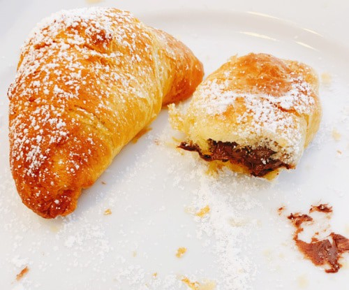 Crescent roll chocolate croissants