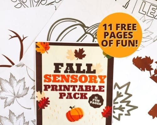 Free Autumn Sensory Story Printable