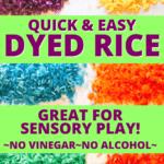 HOW TO DYE RICE FOR SENSORY BIN DIY COLOR RICE
